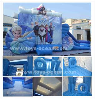 inflatable frozen bouncy castle