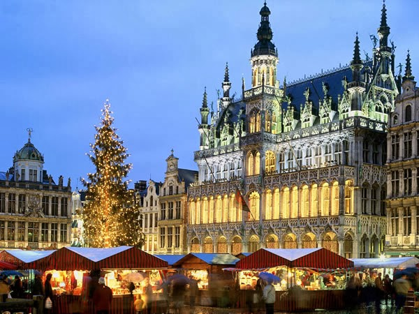 The Christmas markets on the Grand Place in Brussels
