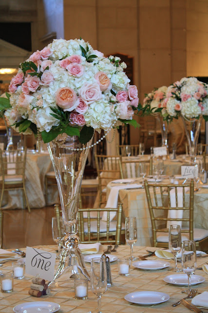 Saratoga Hall of Springs Tall Table Centerpiece - Splendid Stems Event Florals