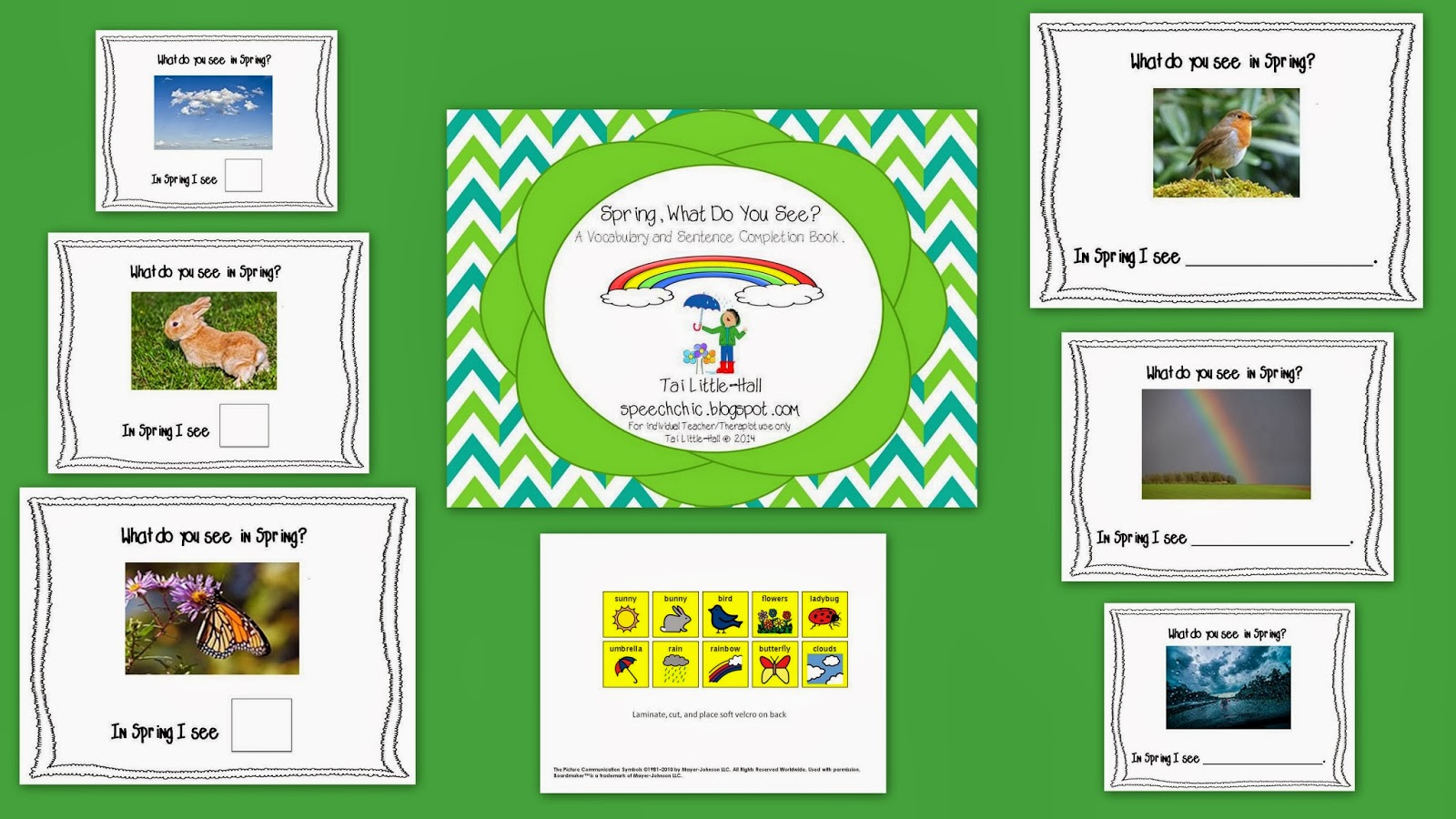 http://www.teacherspayteachers.com/Product/Spring-What-Do-You-See-A-Vocabulary-Matching-Book-1116277