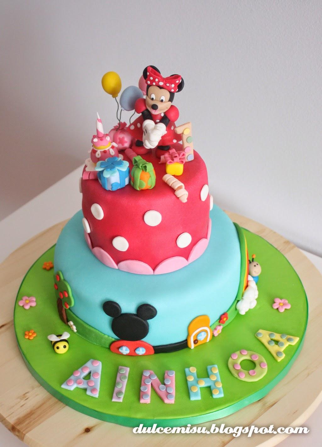 minie Dulcemisu reposteria creativa, tarta, fondant, Minnie, Mickey, regalitos, globos
