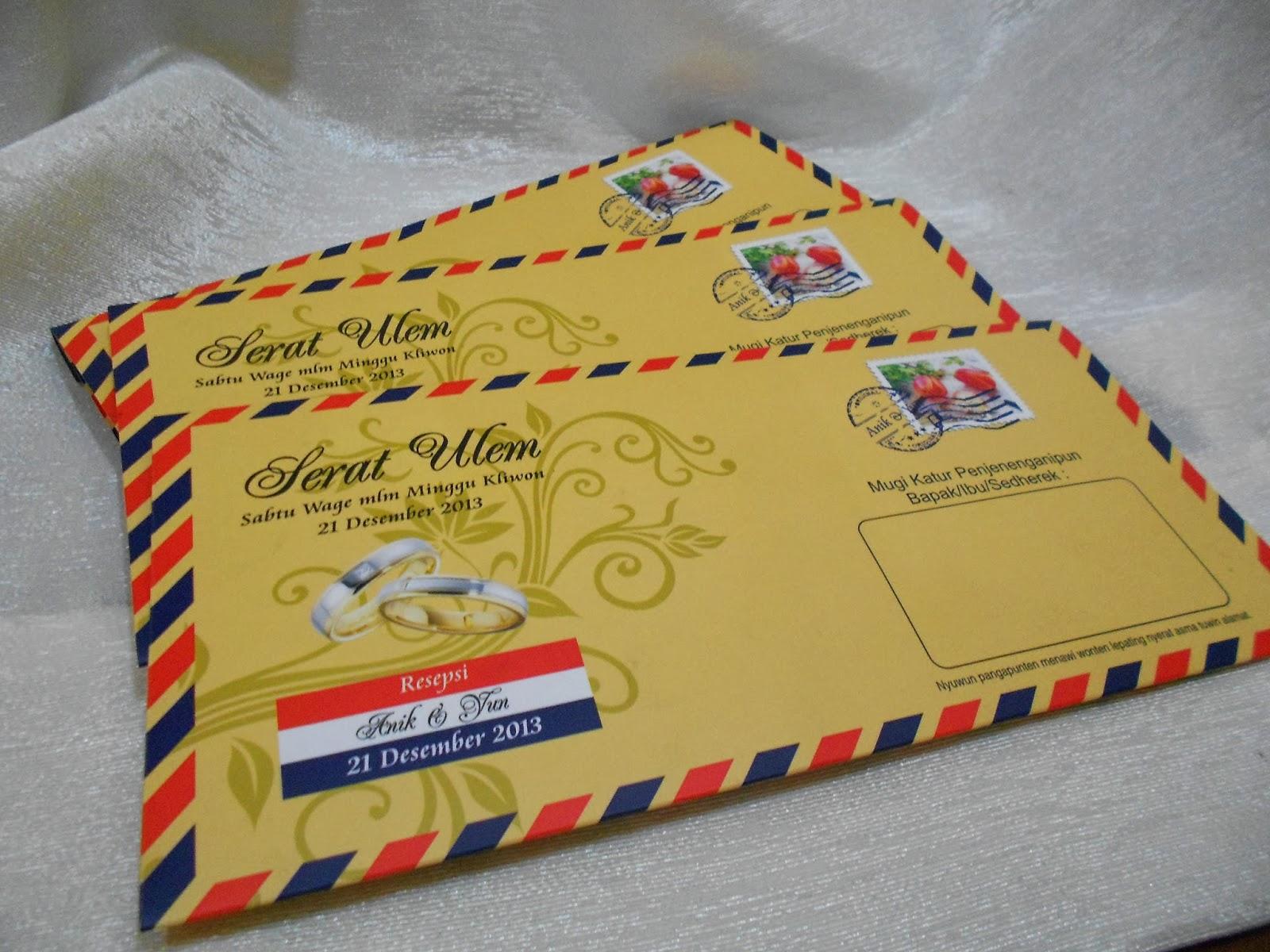 Undangan Unik Kartu Pos