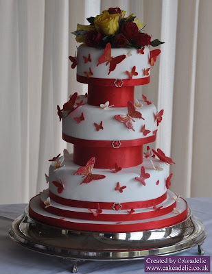 Redbutterfly wedding cakes