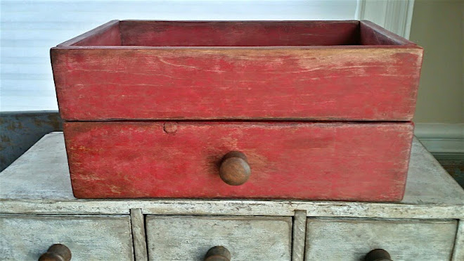 Red Reproduction Drawer with Storage