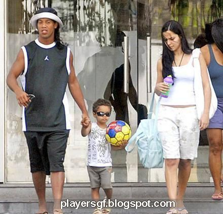 Ronaldinho Family Ronaldinho and his wif...