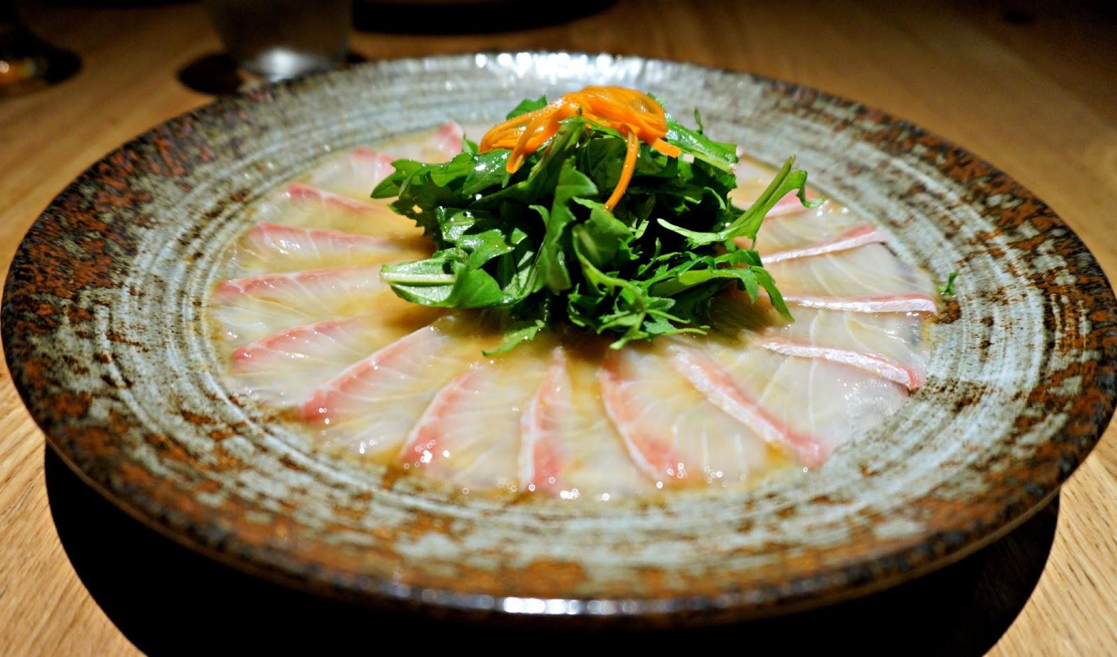 Elle bloggs by lauren barry birthday dinner at roka for Sashimi dressing