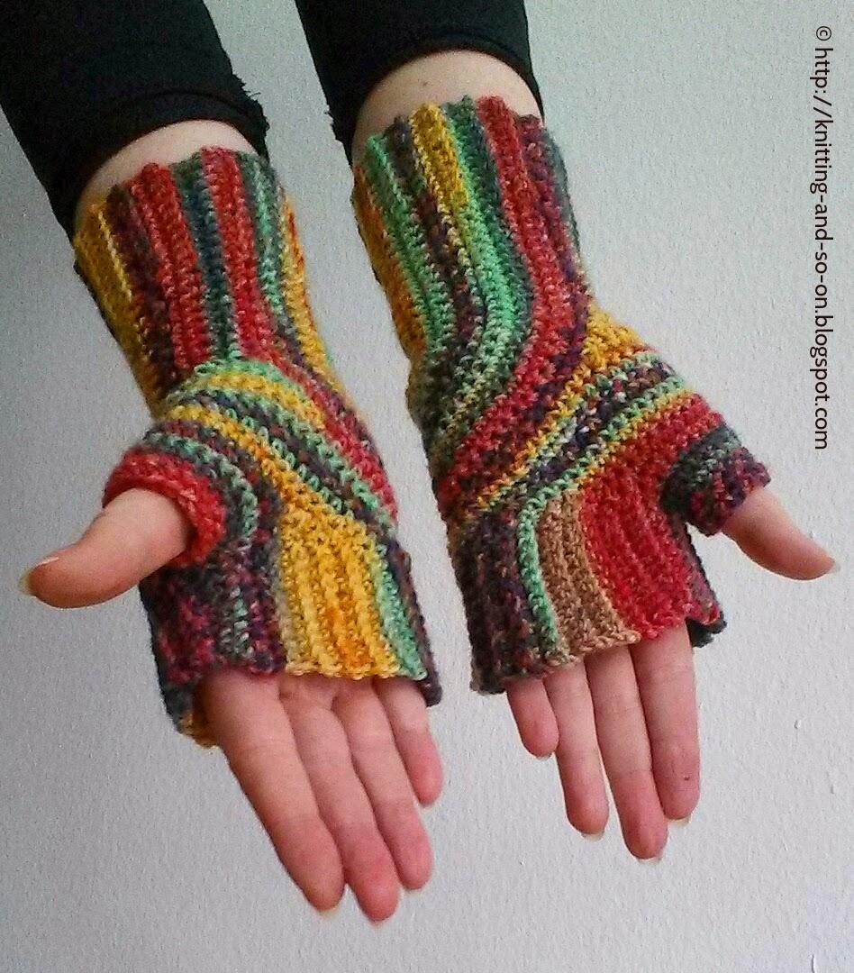 Knitting Pattern Turn : Knitting and so on: Crochet U-Turn Mitts