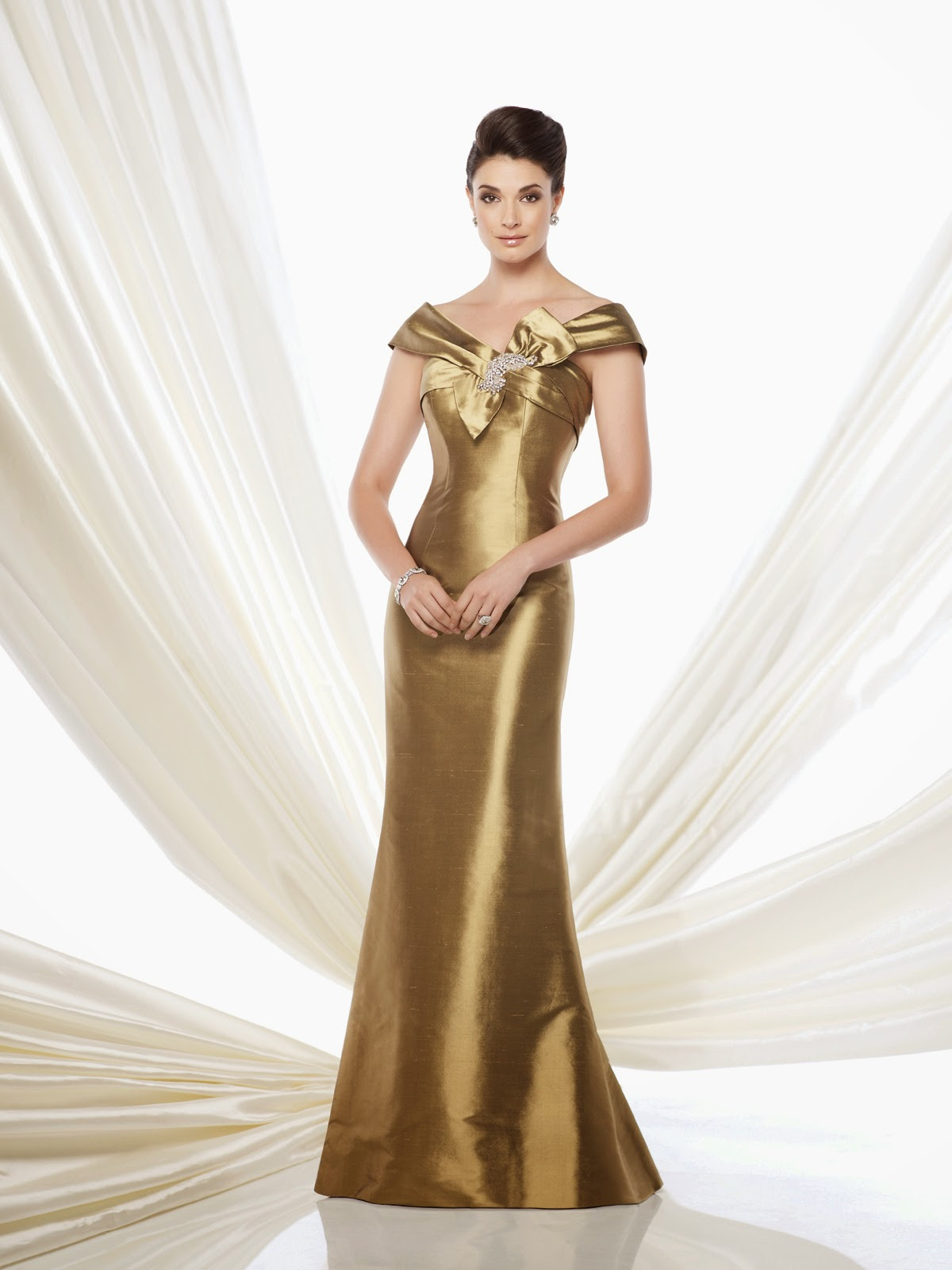 Mother of the Bride Dresses by Mon Cheri brown gold