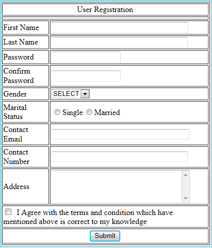 Server controls validation using javascript client for Javascript table th width