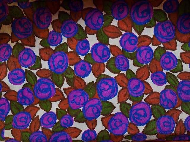 40's 50's vintage floral cotton fabric