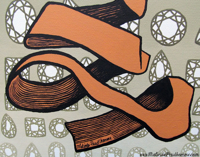rind beauty, rind, MC Escher, escher, acrylic painting, original painting, original artwork, beauty art