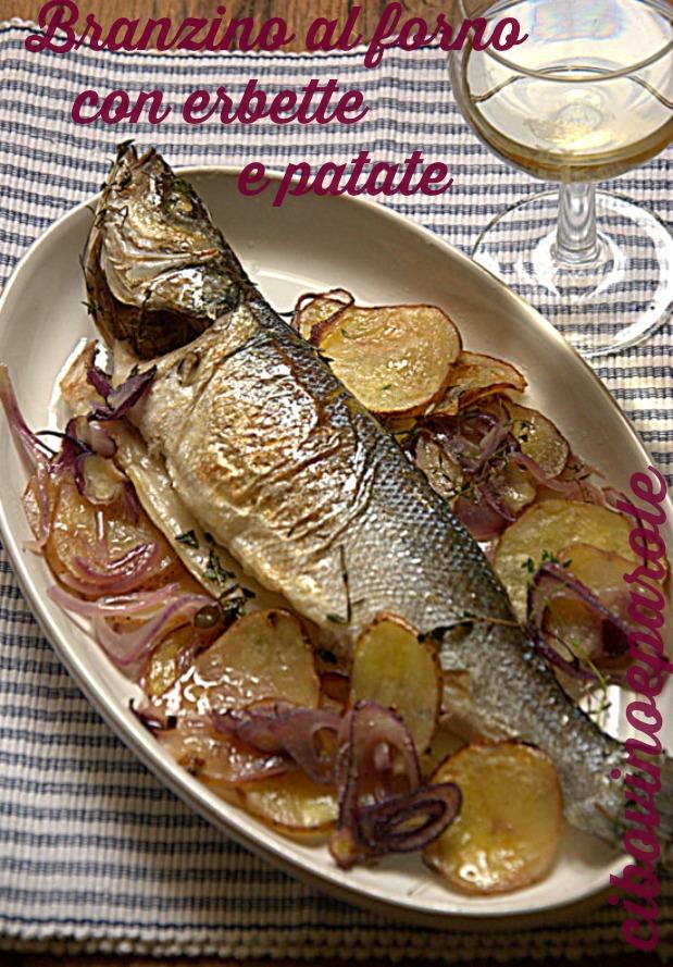 branzino al forno con patate - ricetta