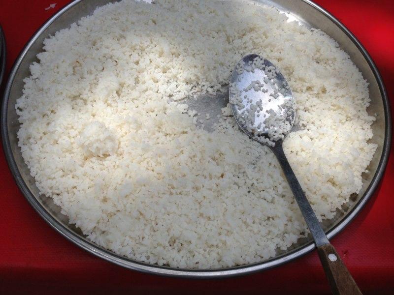 Cocina 3 generaciones arroz blanco con salsa de cacahuetes - Comidas con arroz blanco ...