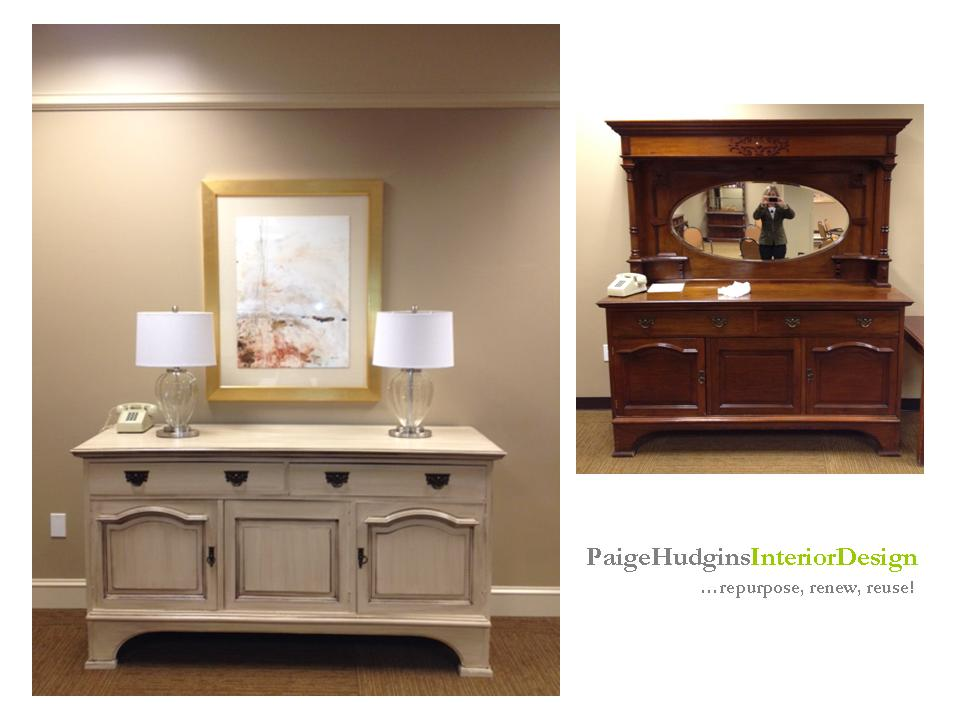 Hudgins Interior Design: Old Furniture Has New Life  Before & After