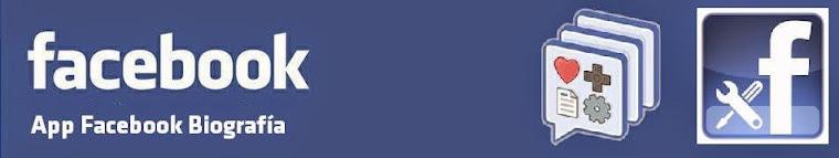 App Facebook Biografia