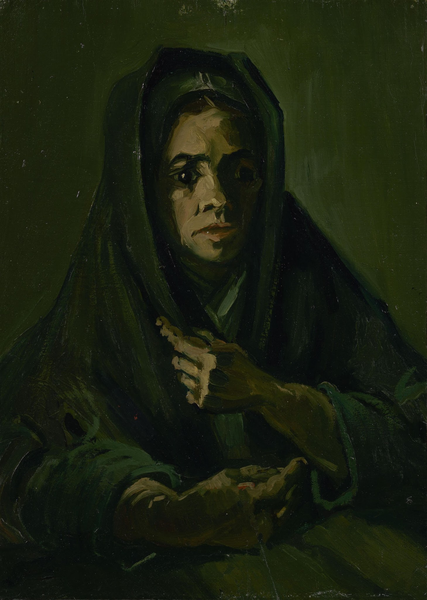 Woman with a Mourning Shawl (F 161, JH 788) by Vincent van Gogh
