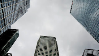 Skyscrapers at Londons Canary Wharf
