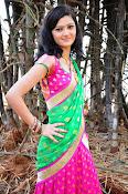Pujitha sizzling in half saree-thumbnail-14