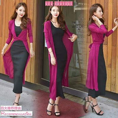 Maxi Dress 2 in 1 Syasa Set Maxi - 10443