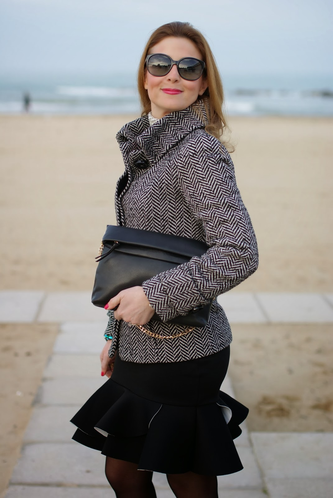 peplum hem skirt, Zara twill jacket, Fashion and Cookies, fashion blogger