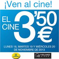 Entradas de cine a 3,50 € en Cinesa y Cines Yelmo