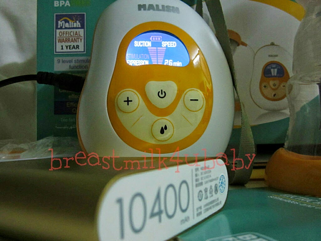 Malish Mango Portable Auto Single Electric Battery Powerbank Breast Pump Breastpump Pam Susu