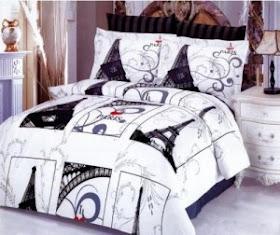 Paris Themed Bedding Comforter Set