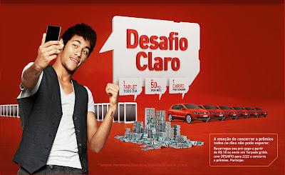 """Promoção """"DESAFIO CLARO"""" 2012."""
