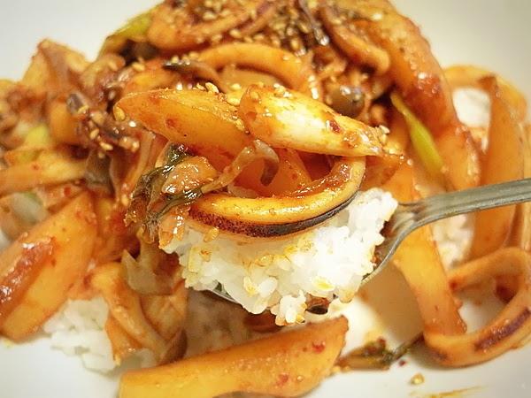 イカとジャガイモのキムチ炒め