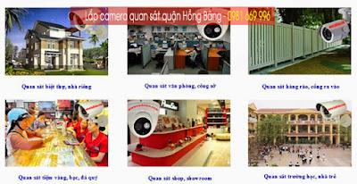 Lắp camera quan sát quận Hồng Bàng