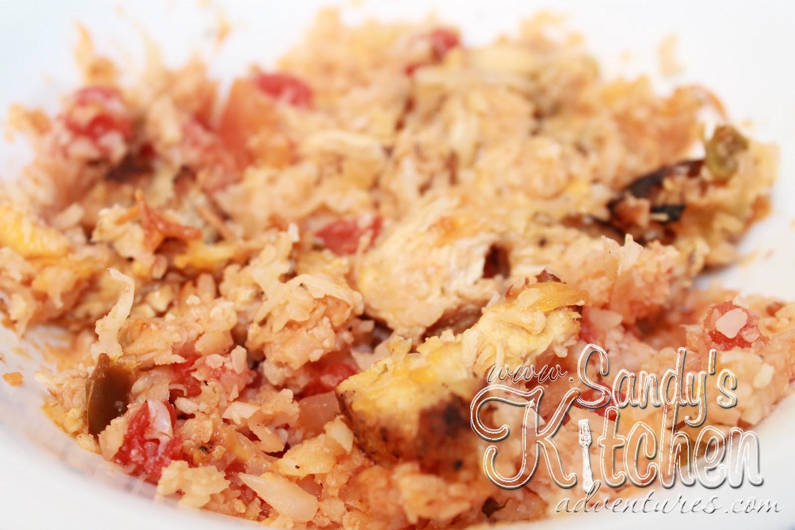 Mexican Chicken And Cauliflower Rice Casserole Sandy 39 S Kitchen