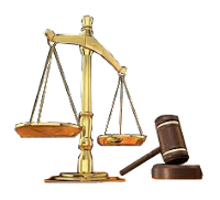 Balance and gavel, symbols of justice