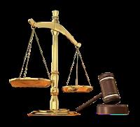 Balance and gavel, symbols of justice