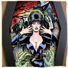 Elvira! Coffin framed print