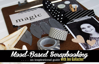 """Mood Based Scrapbooking"" class taught by Jen Gallacher on how to use moodboards as #scrapbooking inspiration. http://jen-gallacher.mybigcommerce.com/mood-based-scrapbooking-self-paced-workshop/"