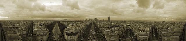Paris view from Arc de Triomphe (Facing West)