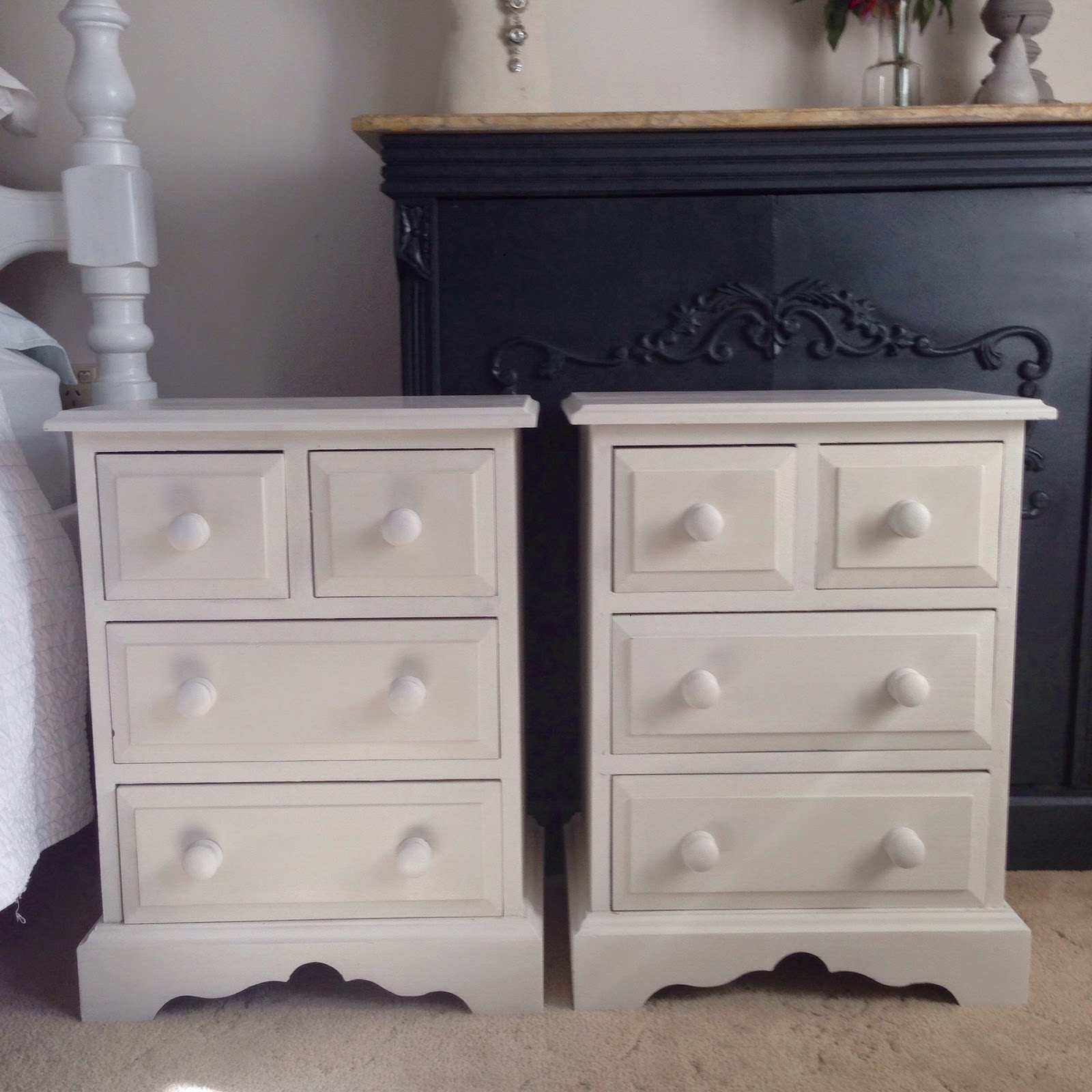 Lilyfield Life white painted bedside tables Porters Chalk Emulsion