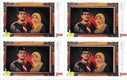 Anda Sukanda dan Istri pd desain Prangko Prisma POSINDO