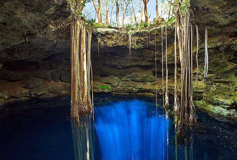 imagen de cenote maya cerca de hacienda San Jose Yucatan