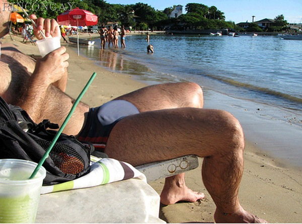 de paquete a paquete en la playa
