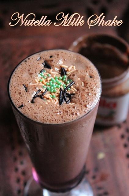Best Nutella Milkshake Recipe - How to Make Nutella Milkshake without ...