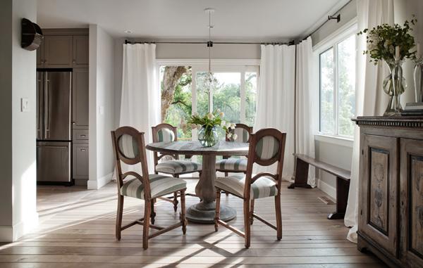 diseño interior casa pequeña - comedor integrado