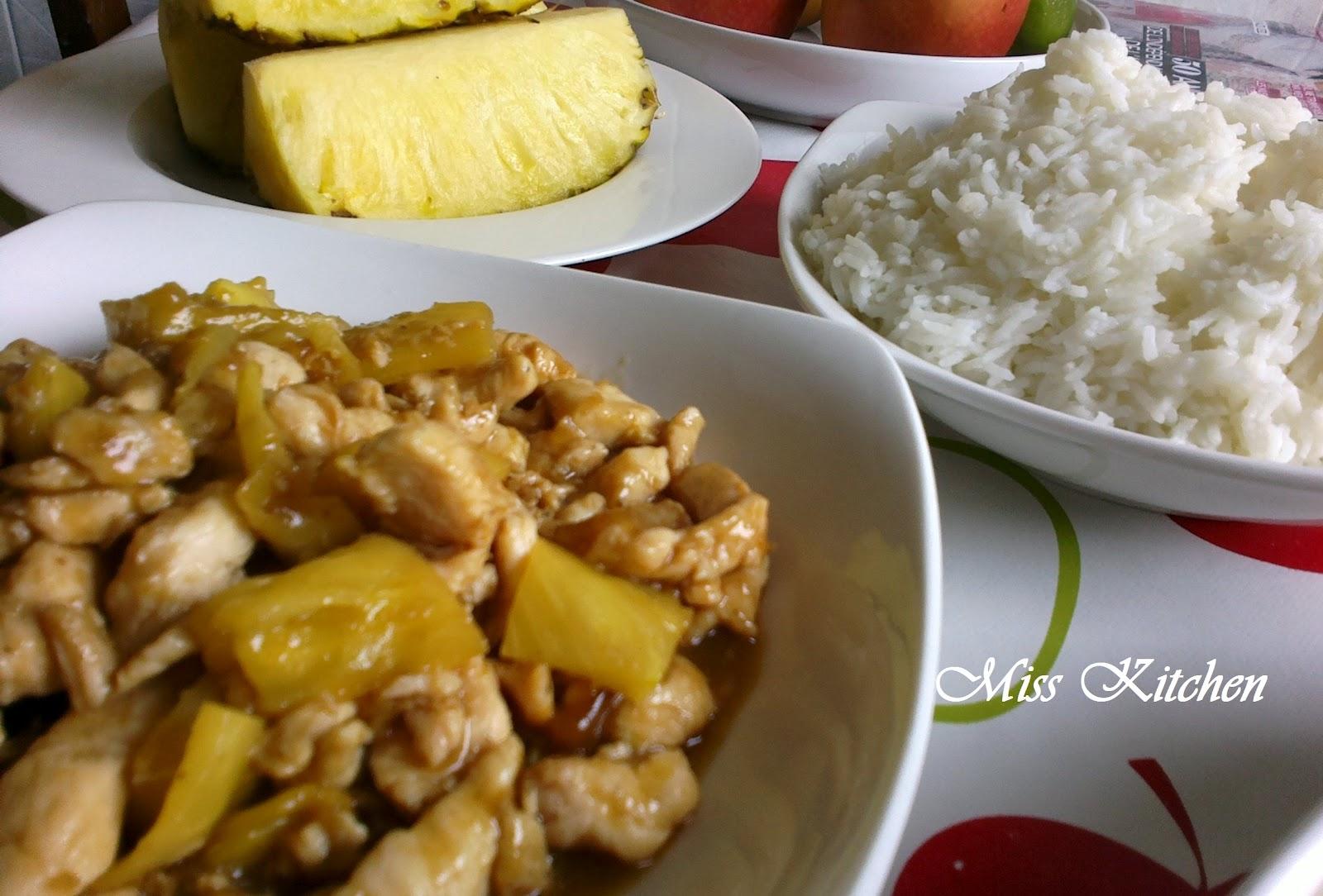 Miss kitchen pollo all 39 ananas - Cucinare spendendo poco ...
