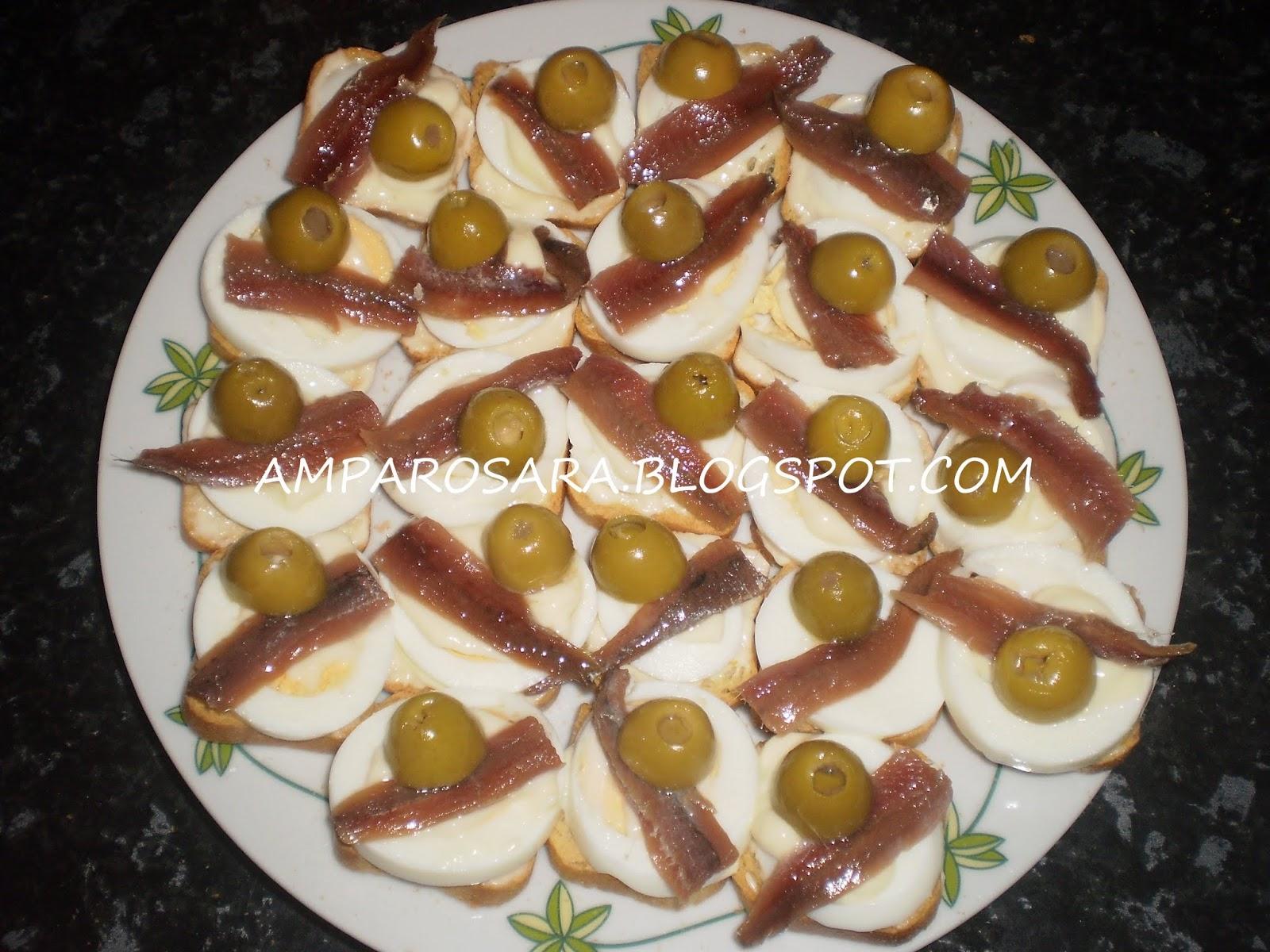 Hogar dulce hogar canap s de huevo y anchoas for Canape de pate con cebolla caramelizada