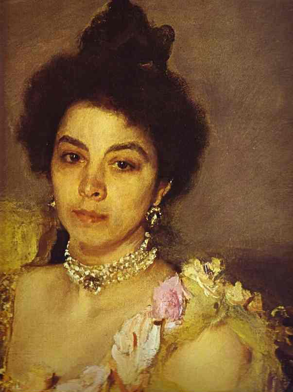 Later On Serov Concentrated On Portraits. He Worked In Several Media: Oils,  Pastels, Charcoal. Sophia Botkina, 1899.