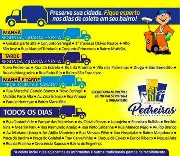 COLETA DE LIXO - CALENDÁRIO