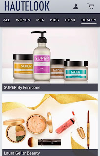 HauteLook features sales on well-known beauty brands.