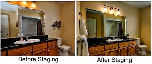 Bathroom staging tips leovan design for Staging a bathroom ideas