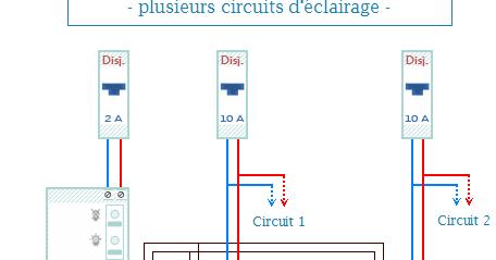 Schema electrique sch ma de branchement le bloc de secours plusieurs circuits - Norme nfc 15 100 pdf ...