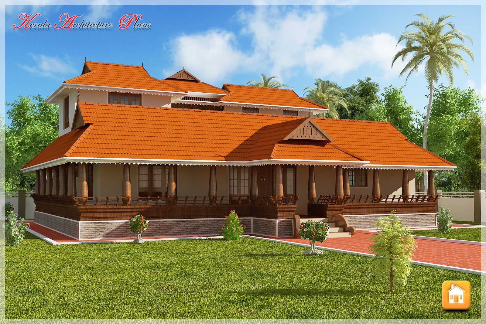Beautiful traditional nalukettu model kerala house plan for House plans kerala model photos